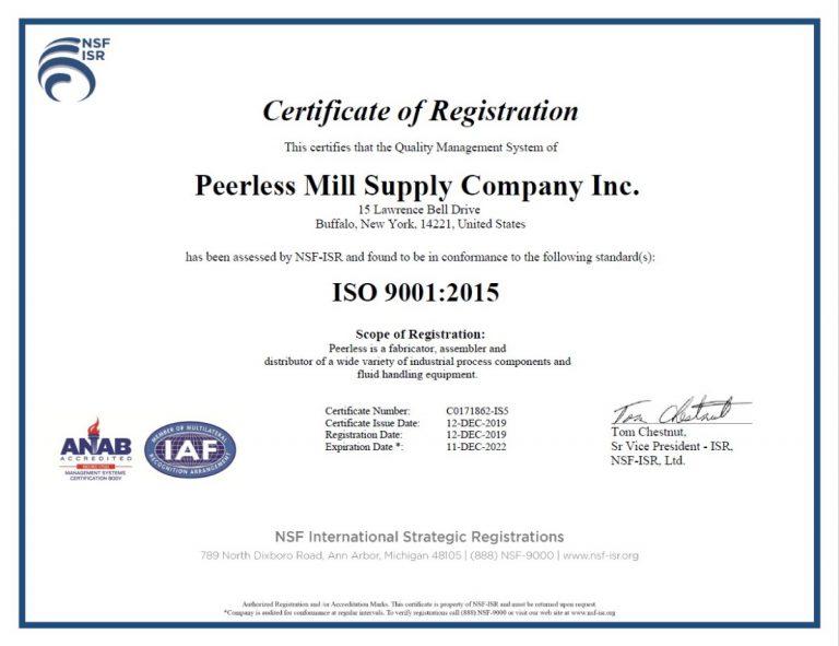 Peerless ISO 9001:2015