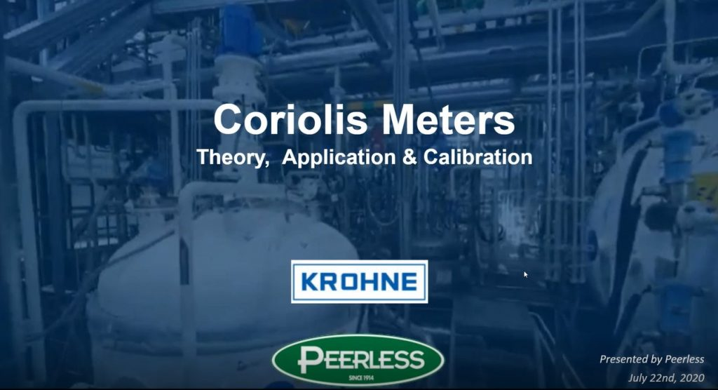 Coriolis Mass Meters, Featuring KROHNE